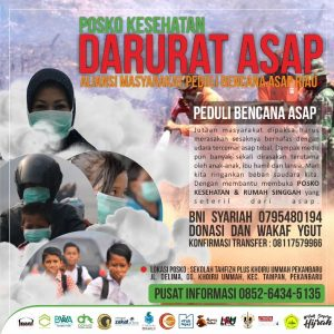 Khoiru Ummah Berbagi : Darurat Asap Riau